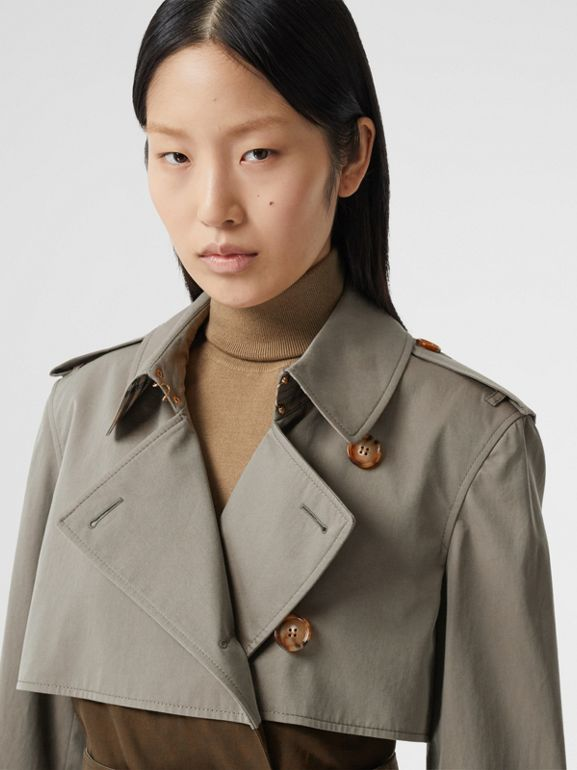 Trench coat bicolore ricostruito - Donna | Burberry - cell image 1