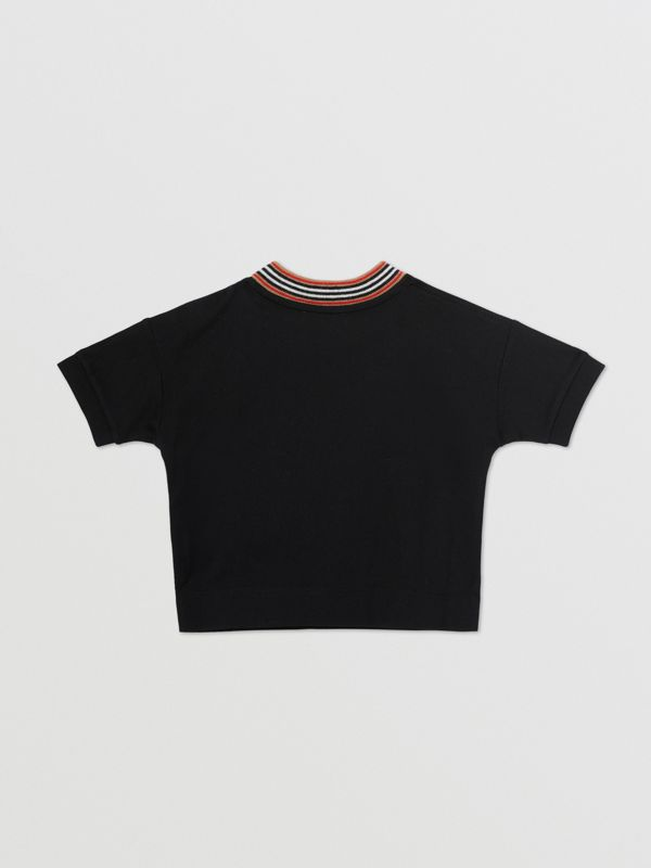 Cake Print Cotton T-shirt in Black - Children | Burberry - cell image 3