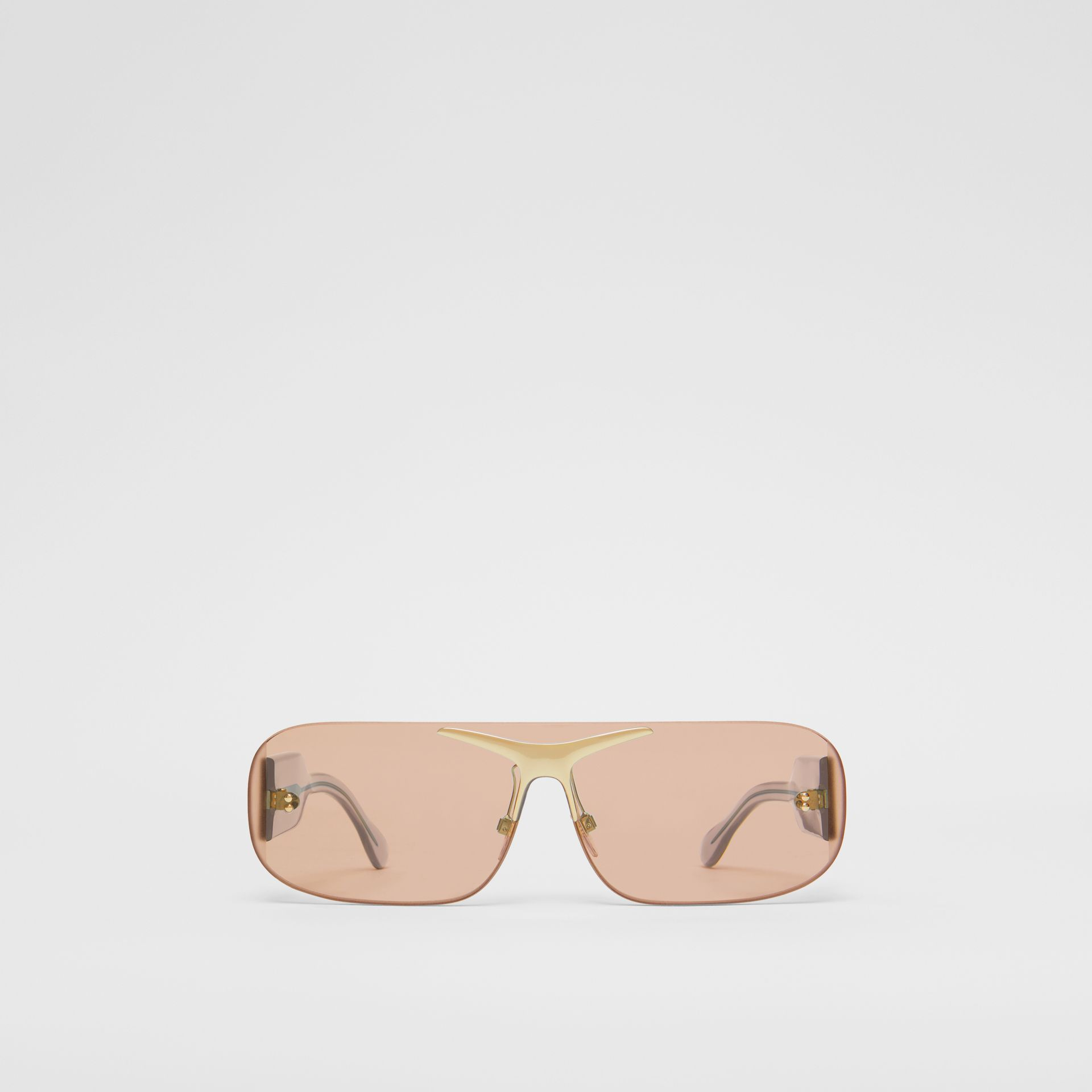 Blake Shield Sunglasses in Light Brown | Burberry - gallery image 0