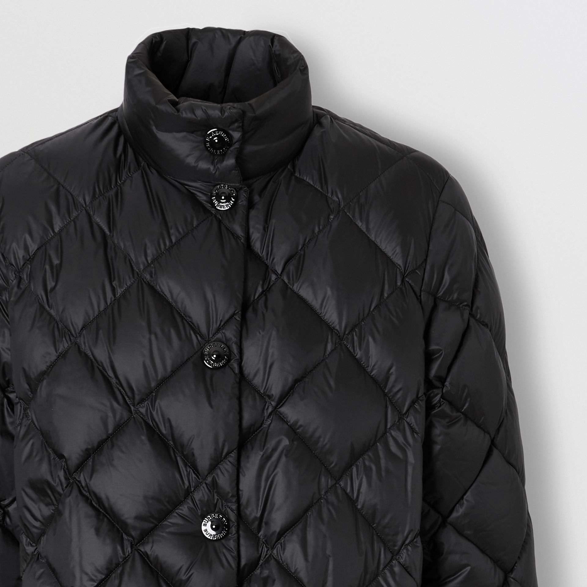 Diamond Quilted Down-filled Jacket in Black - Women | Burberry Canada - gallery image 6