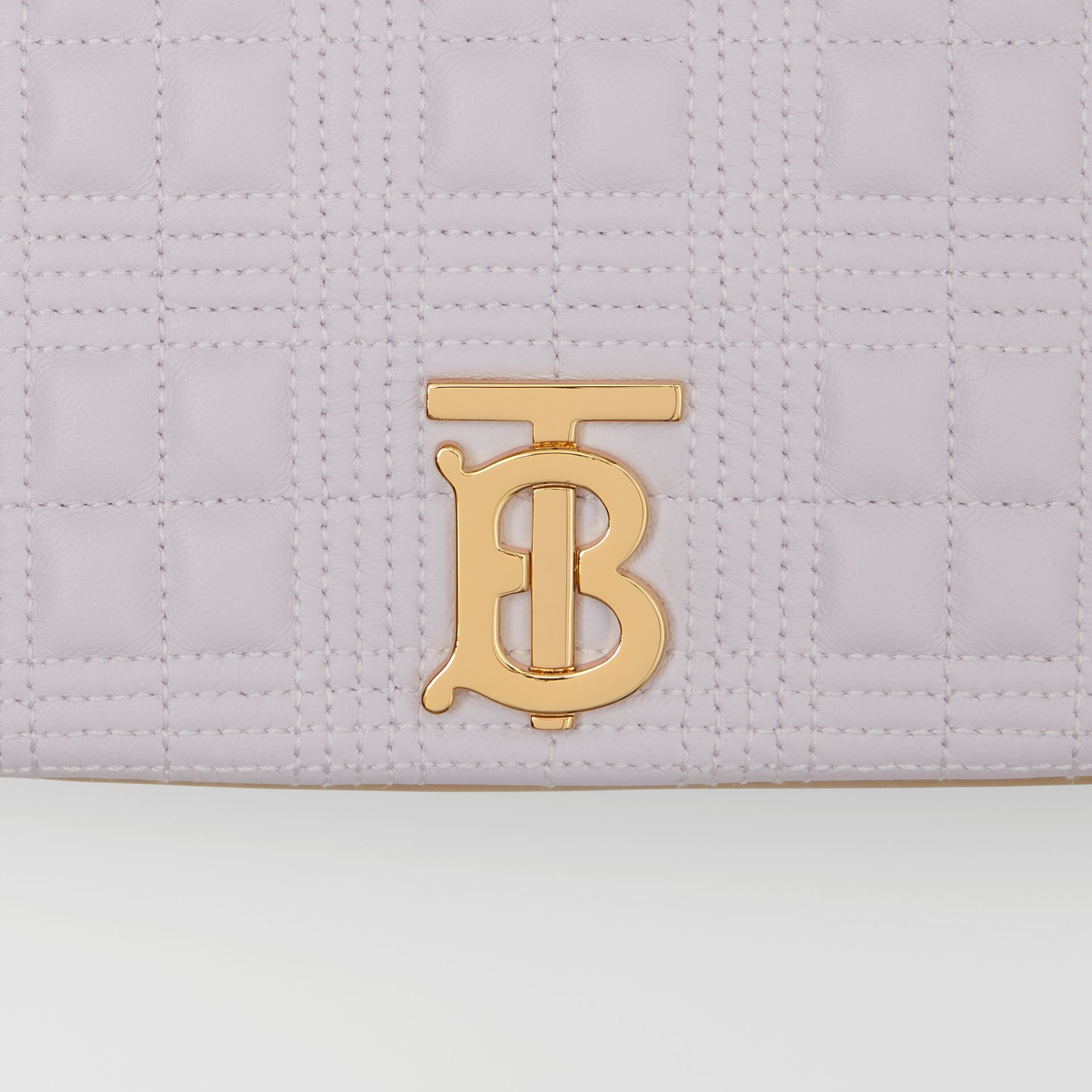 Small Quilted Two-tone Lambskin Lola Bag in Pale Thistle/soft Fawn | Burberry United Kingdom - gallery image 1