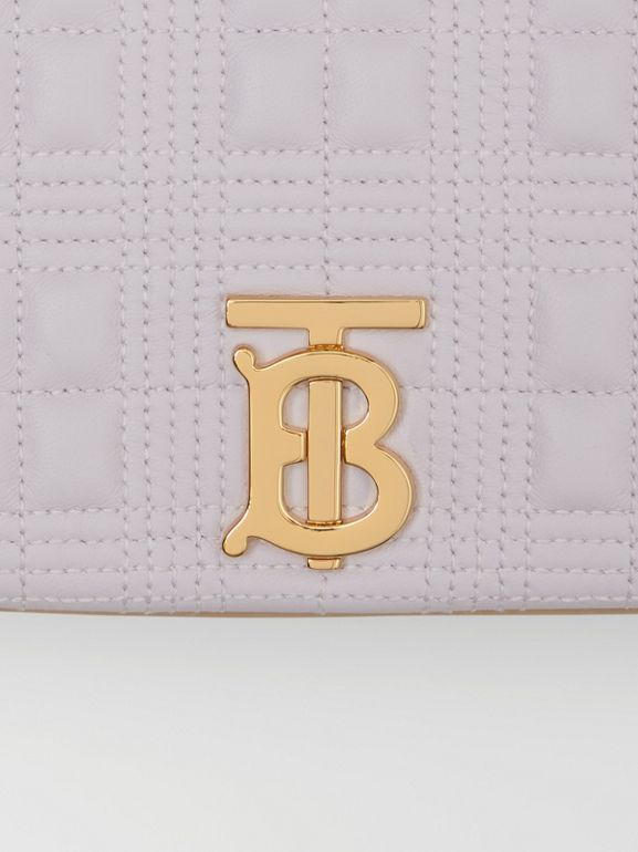 Small Quilted Two-tone Lambskin Lola Bag in Pale Thistle/soft Fawn - Women | Burberry - cell image 1
