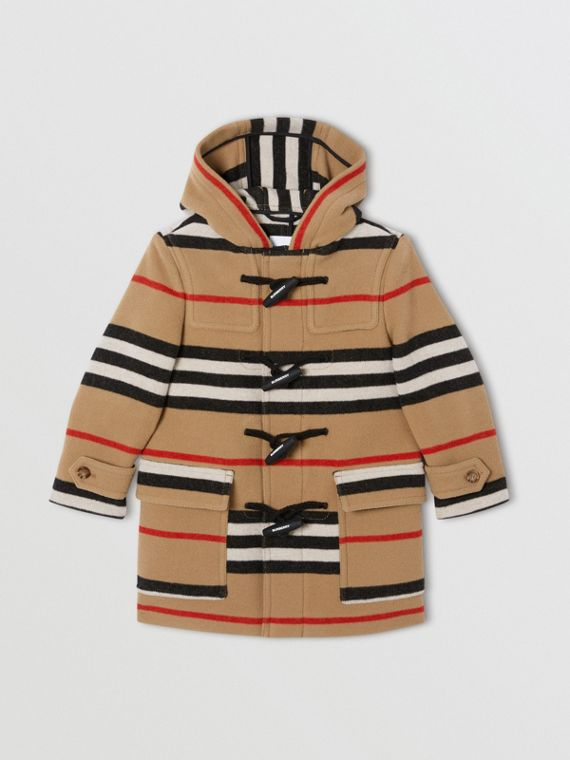 Double-faced Icon Stripe Wool Duffle Coat