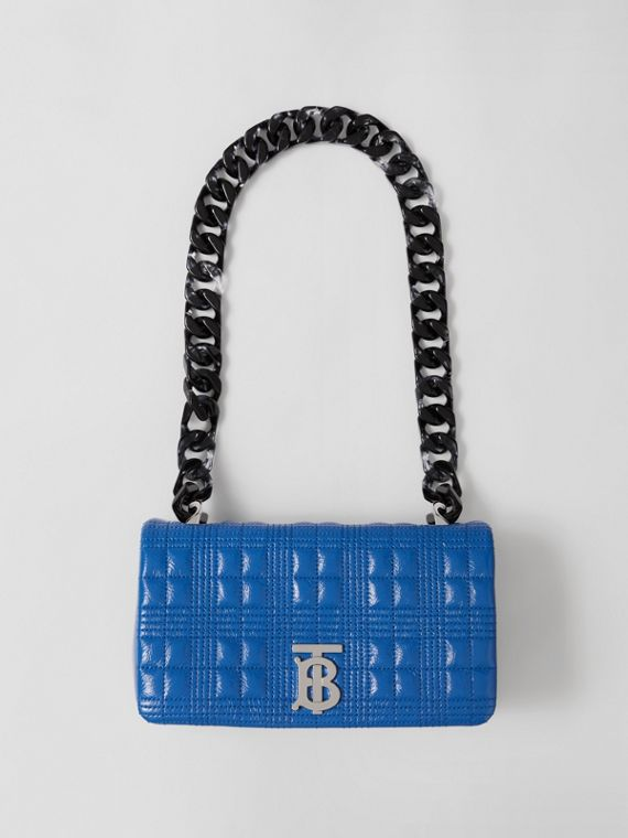 Small Quilted Lambskin Lola Bag in Warm Royal Blue