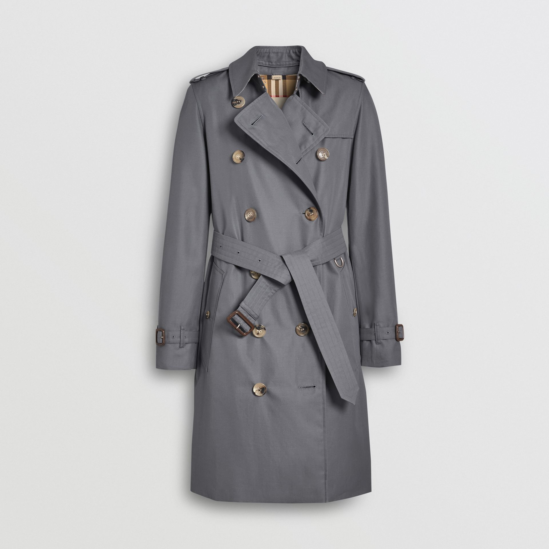 The Mid-length Kensington Heritage Trench Coat in Grey - Women | Burberry Canada - gallery image 3
