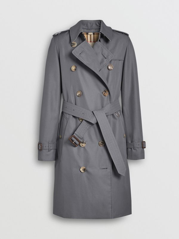 The Mid-length Kensington Heritage Trench Coat in Grey - Women | Burberry Canada - cell image 3