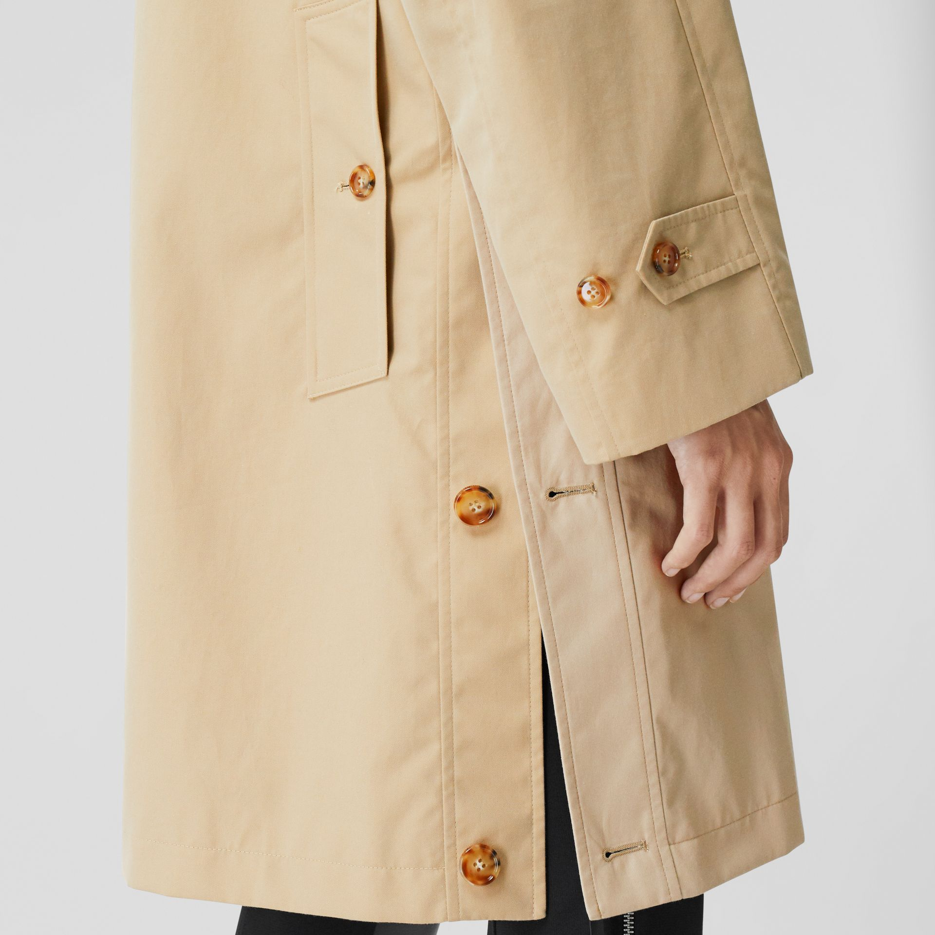 Two-tone Reconstructed Car Coat - Women | Burberry - gallery image 4