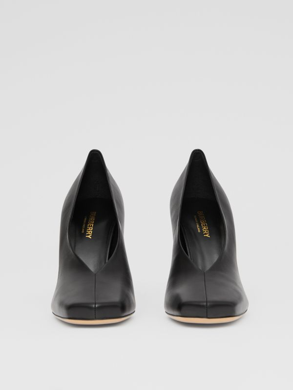 Lambskin Sculptural Pumps in Black - Women | Burberry - cell image 3