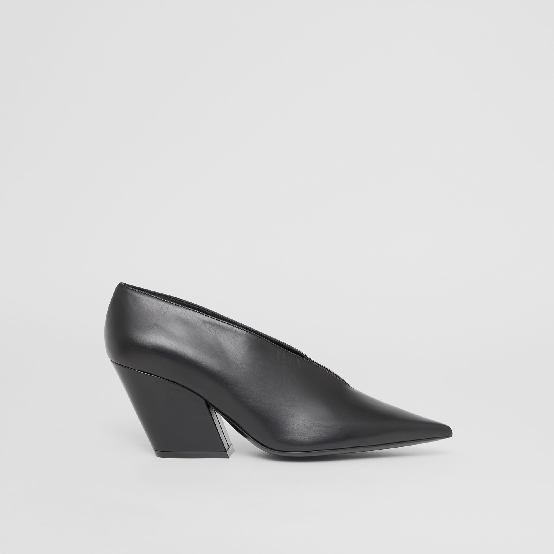 Leather Point-toe Pumps in Black - Women | Burberry - gallery image 5