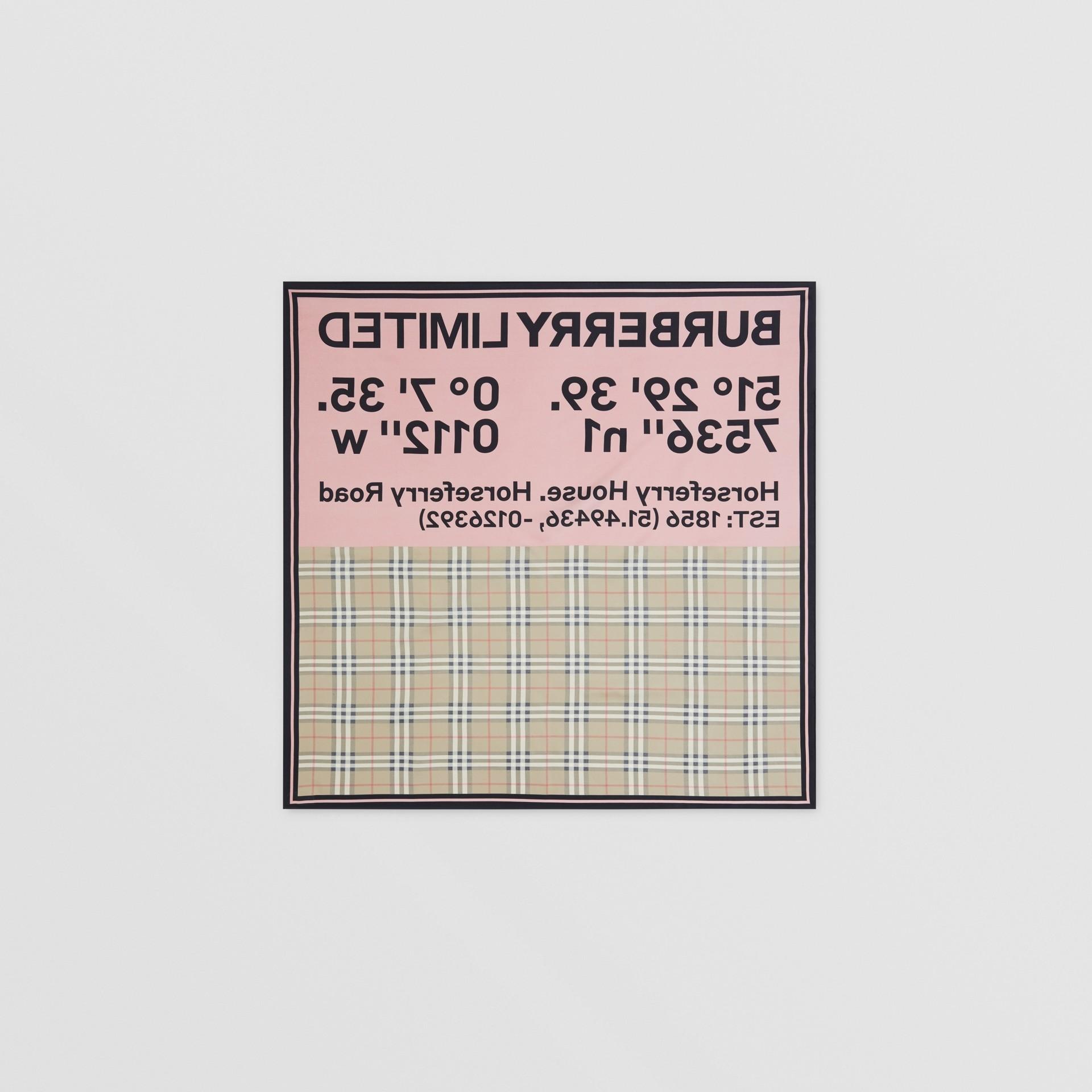 Seidenkarreeschal mit Druckmotiven (Vintage-beige/rot/rosa) | Burberry - Galerie-Bild 7