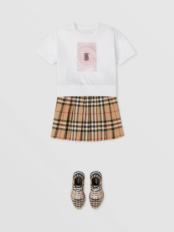 Confectionery Print Cotton T-shirt in White - Children | Burberry - cell image 2