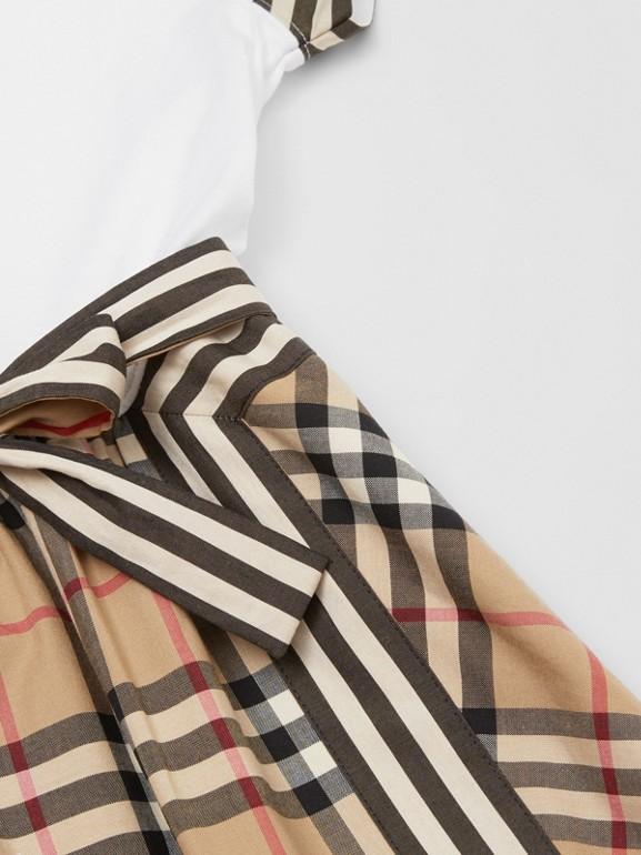 Vintage Check Detail Cotton Dress | Burberry United Kingdom - cell image 1