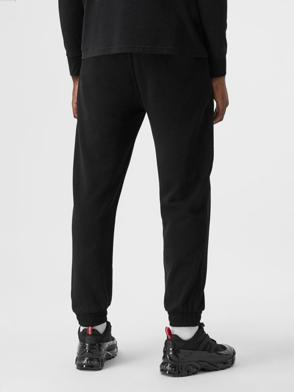 Love Print Cotton Jogging Pants in Black - Men | Burberry - cell image 2