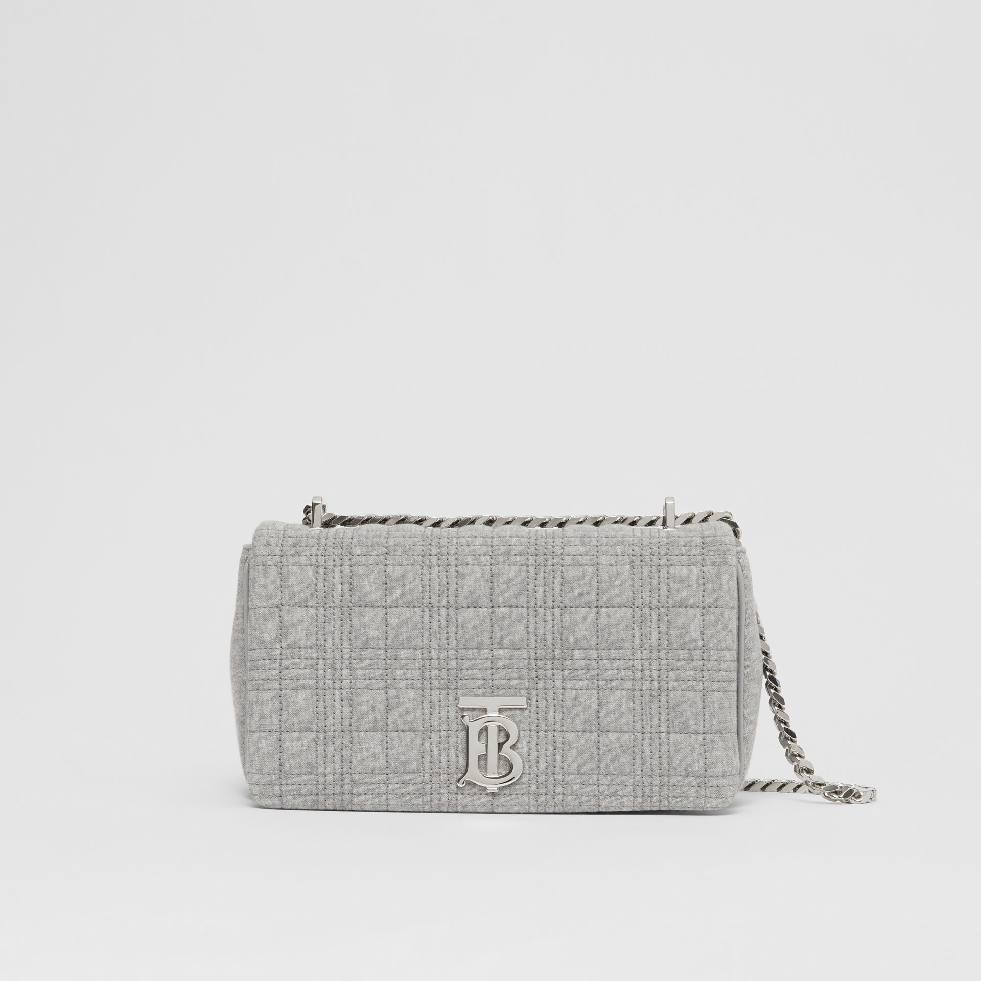 Small Quilted Jersey Lola Bag in Grey Taupe Melange | Burberry United Kingdom - gallery image 0