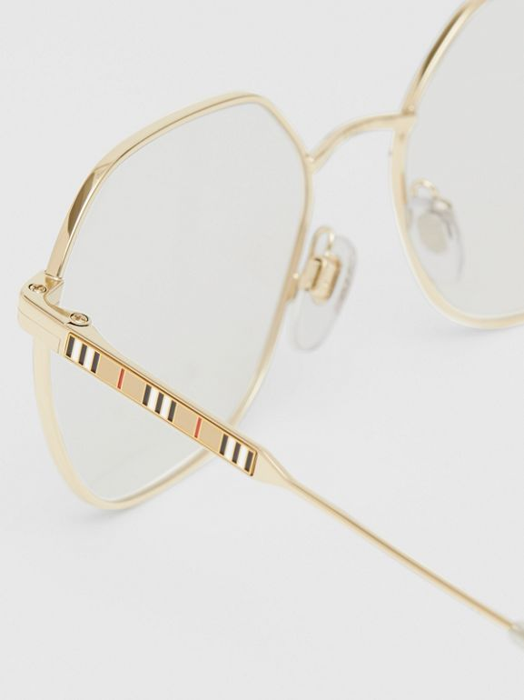 Geometric Optical Frames in Pearl - Women | Burberry - cell image 1