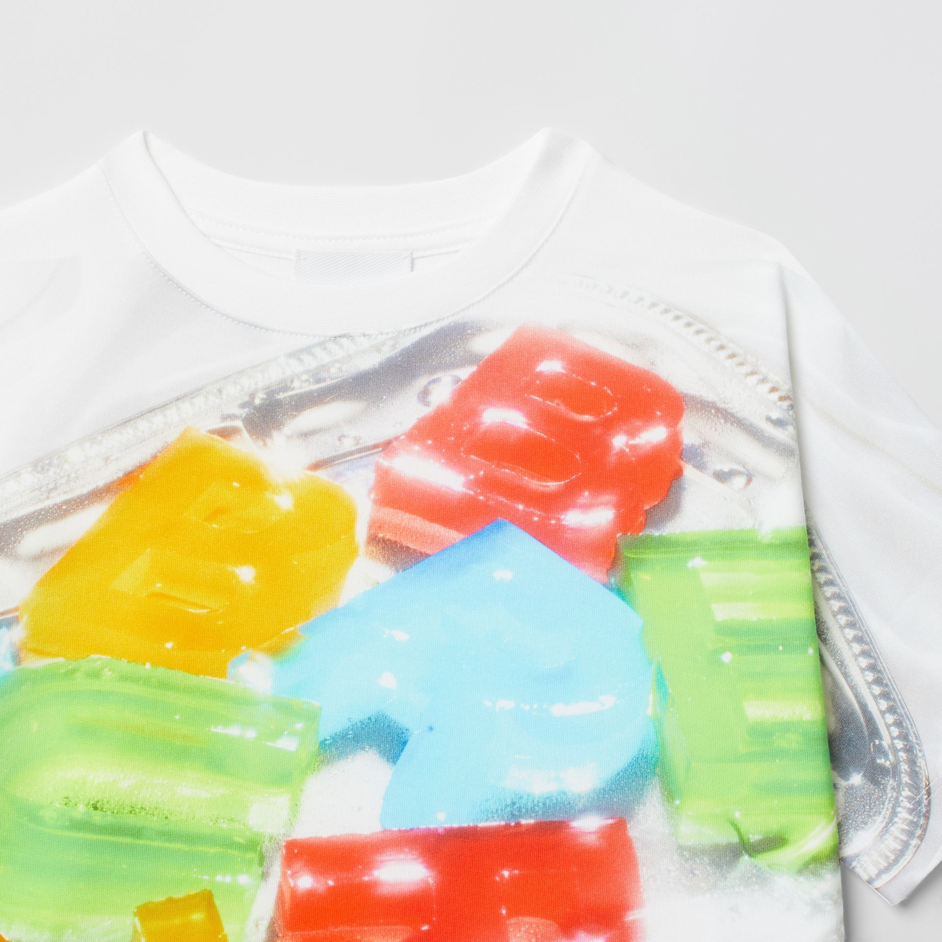 Confectionery Print Cotton T-shirt in Multicolour | Burberry - gallery image 5