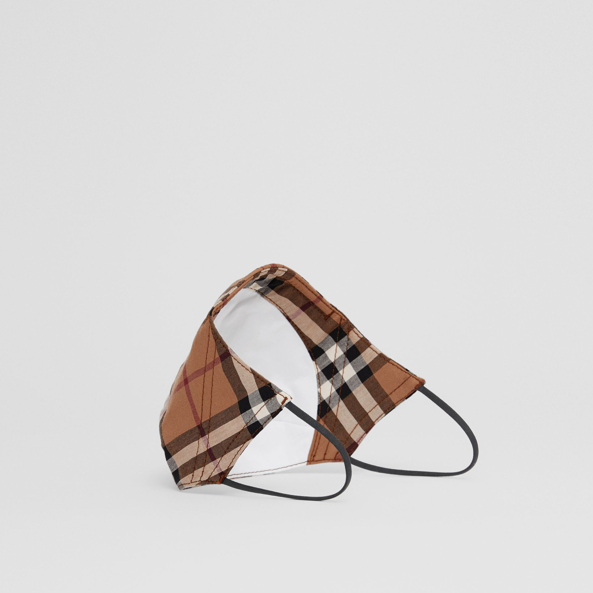 Vintage Check Cotton Face Mask in Birch Brown | Burberry United Kingdom - gallery image 5