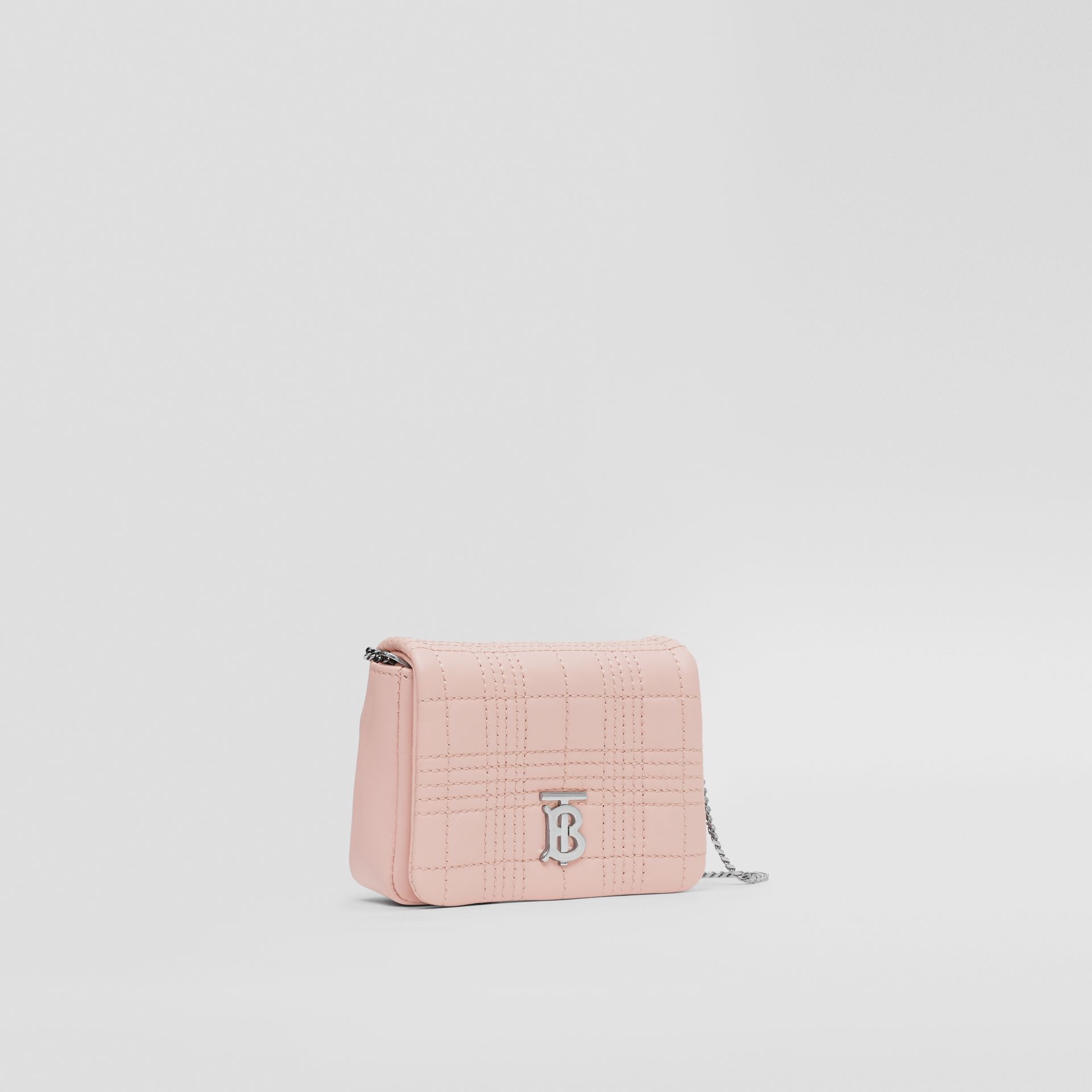 Micro Quilted Lambskin Lola Bag in Blush Pink - Women | Burberry - gallery image 6