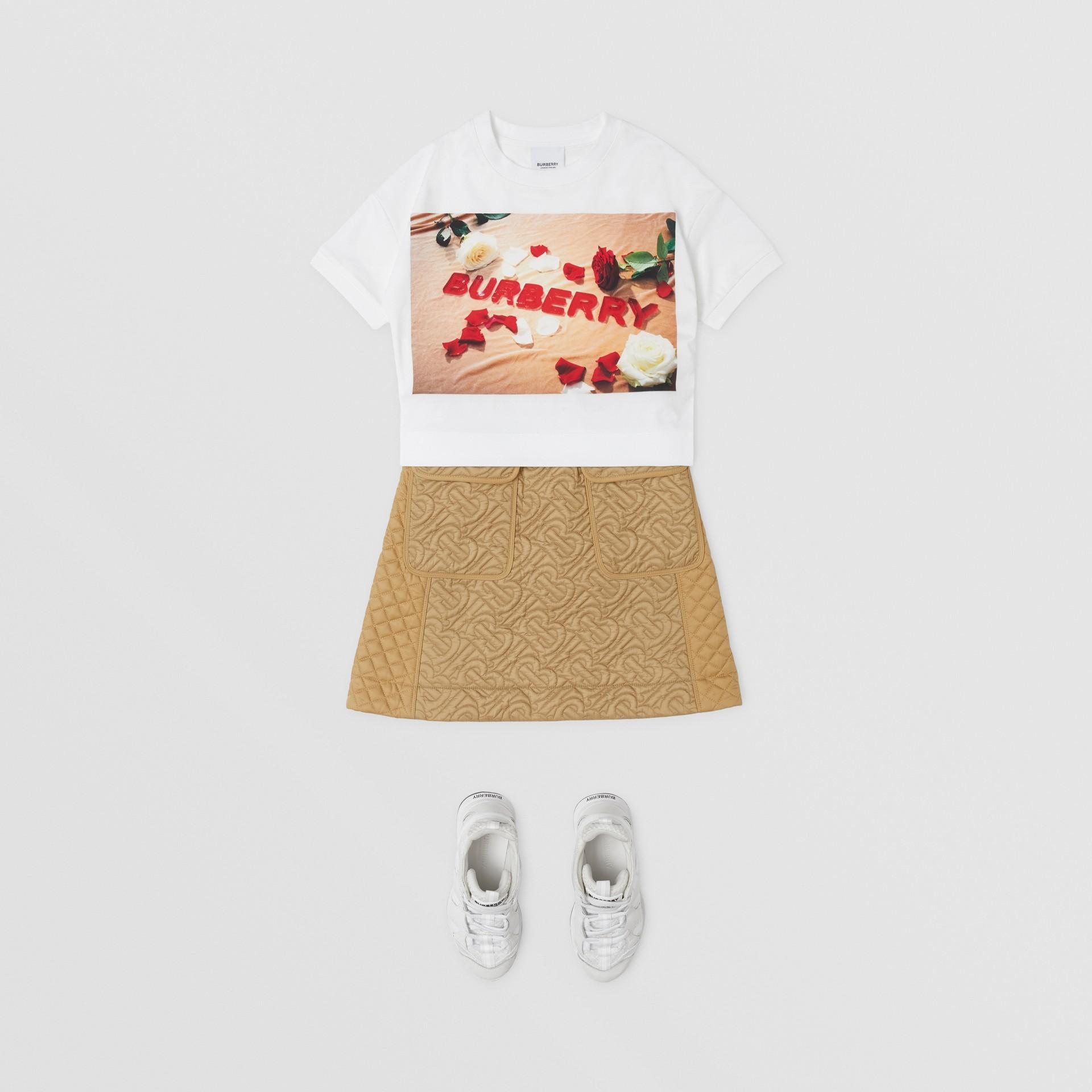 T-shirt in cotone con stampa dolciumi (Bianco) | Burberry - immagine della galleria 2