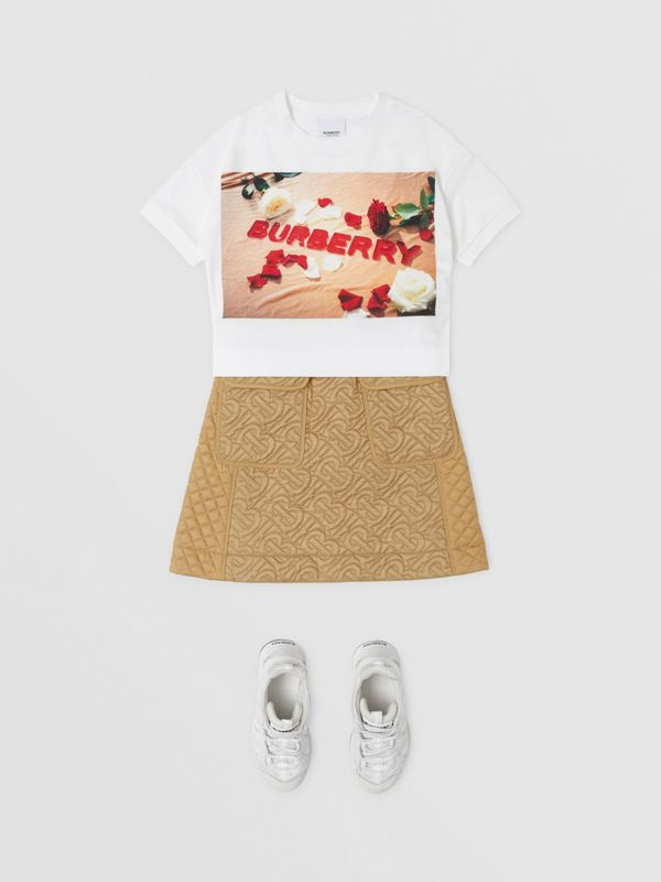 T-shirt in cotone con stampa dolciumi (Bianco) | Burberry - cell image 2