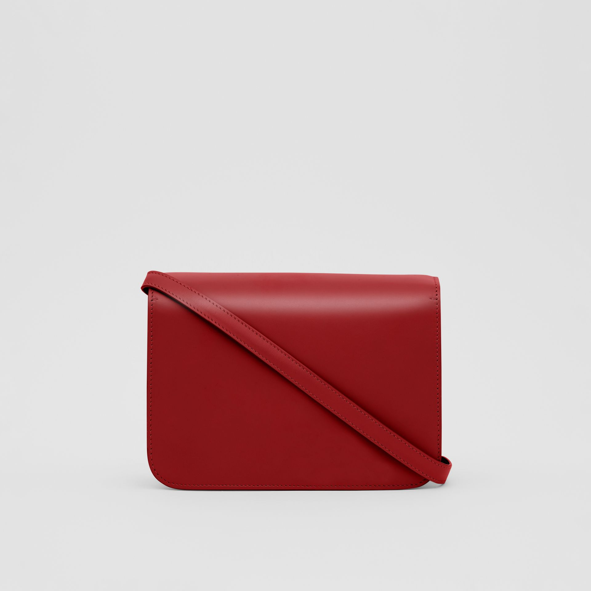 Small Leather TB Bag in Dark Carmine - Women | Burberry - gallery image 5
