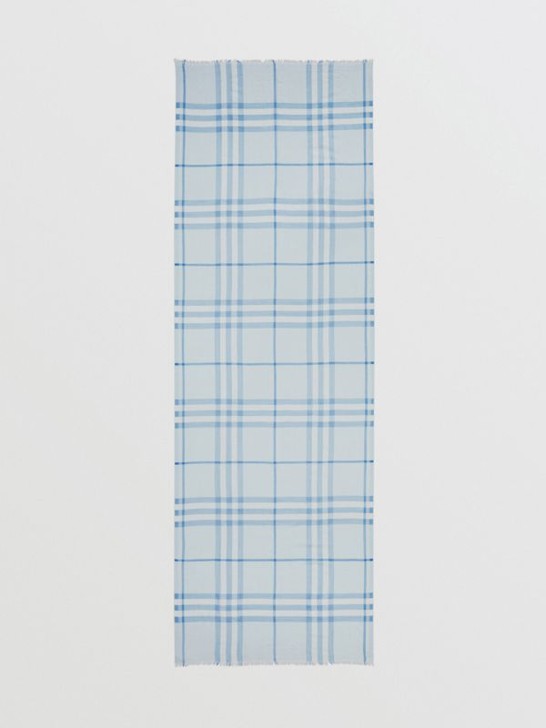 Lightweight Check Wool Silk Scarf   Burberry United Kingdom - cell image 3