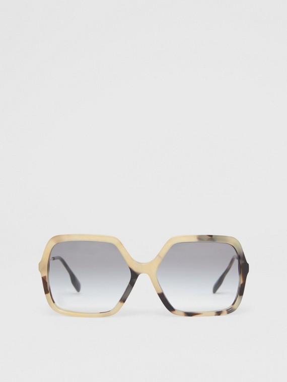 Oversized Square Frame Sunglasses in Honey Tortoiseshell