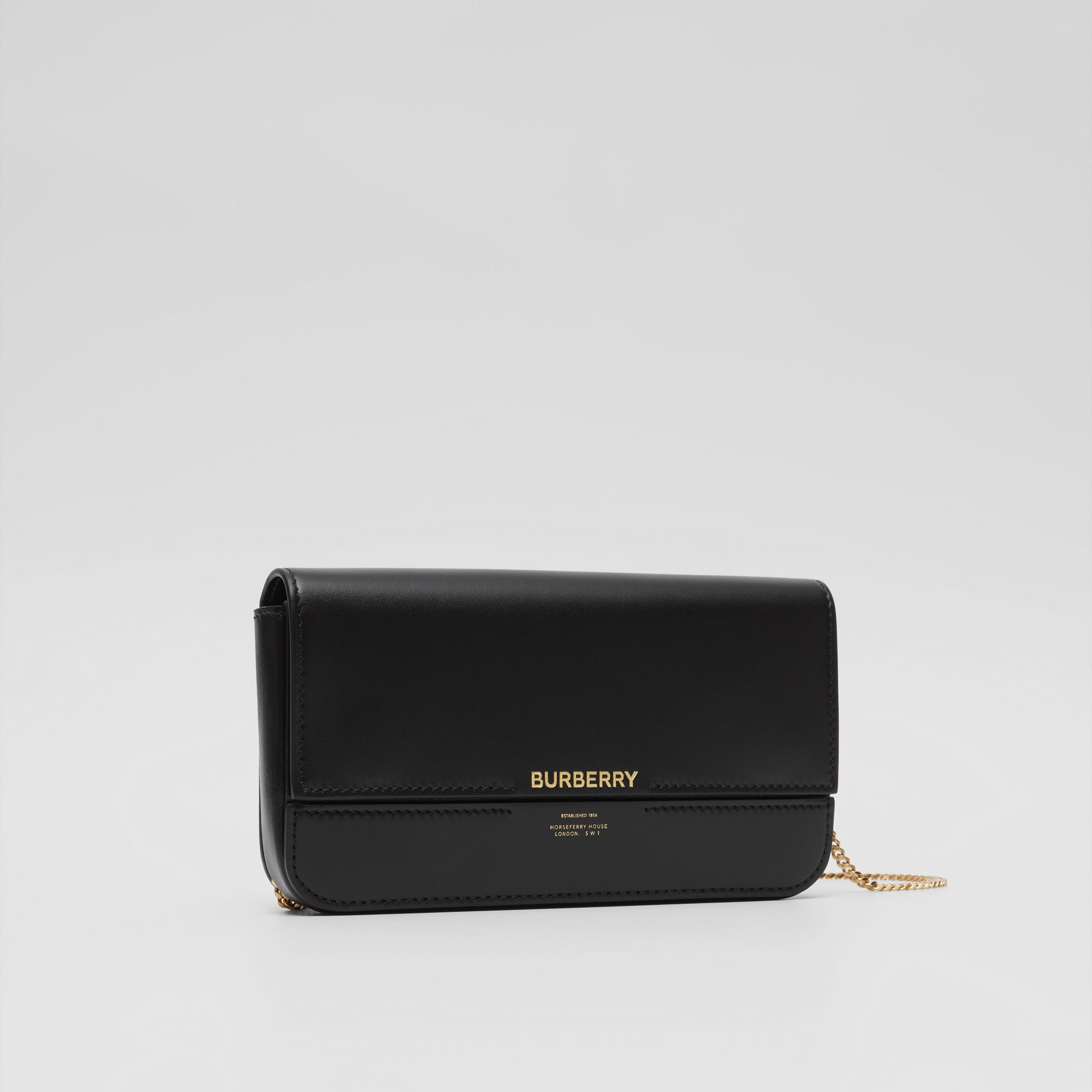 Leather Wallet with Detachable Chain Strap   Burberry United Kingdom - gallery image 3