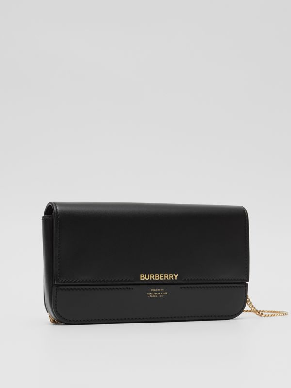 Leather Wallet with Detachable Chain Strap   Burberry United Kingdom - cell image 3