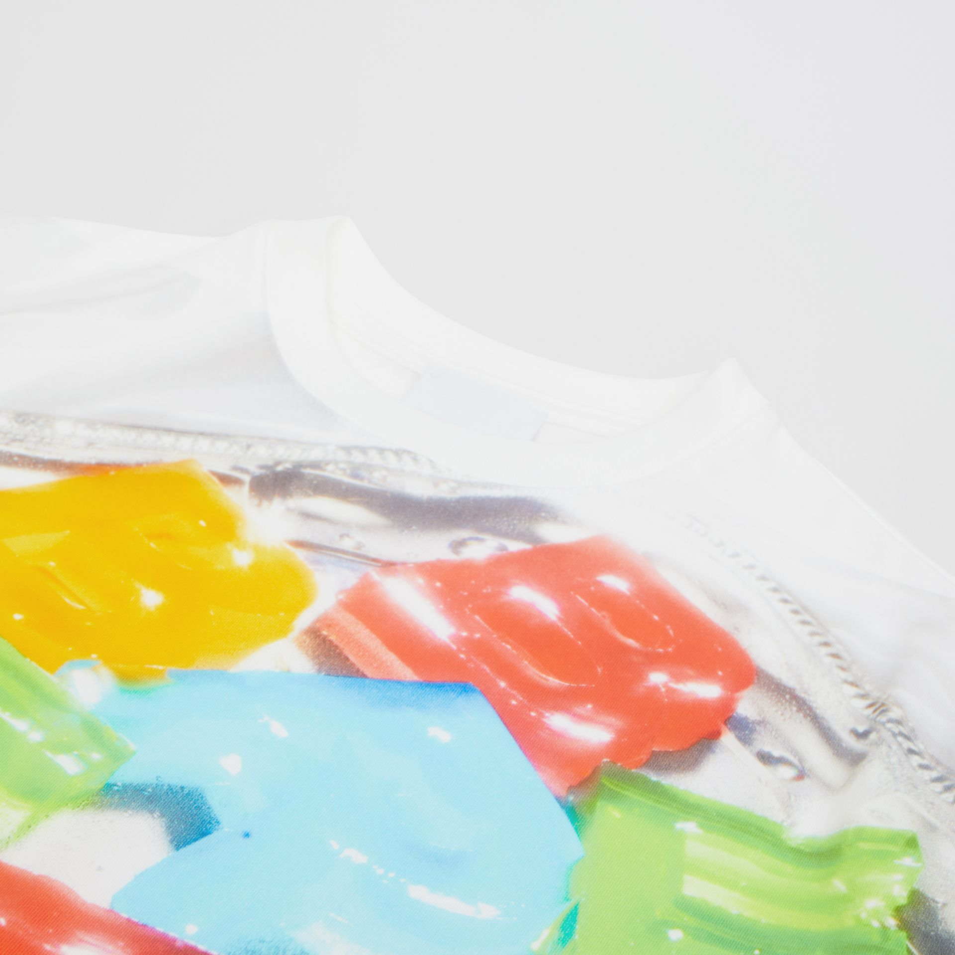 Confectionery Print Cotton T-shirt in Multicolour | Burberry - gallery image 1