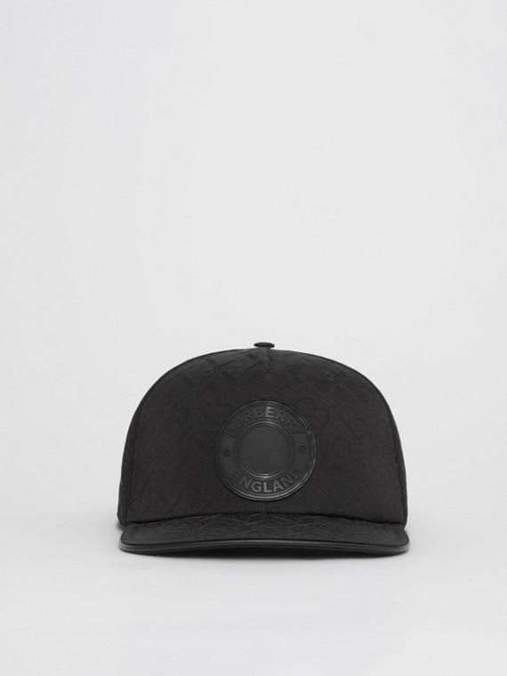 Monogram Nylon Jacquard Baseball Cap in Black