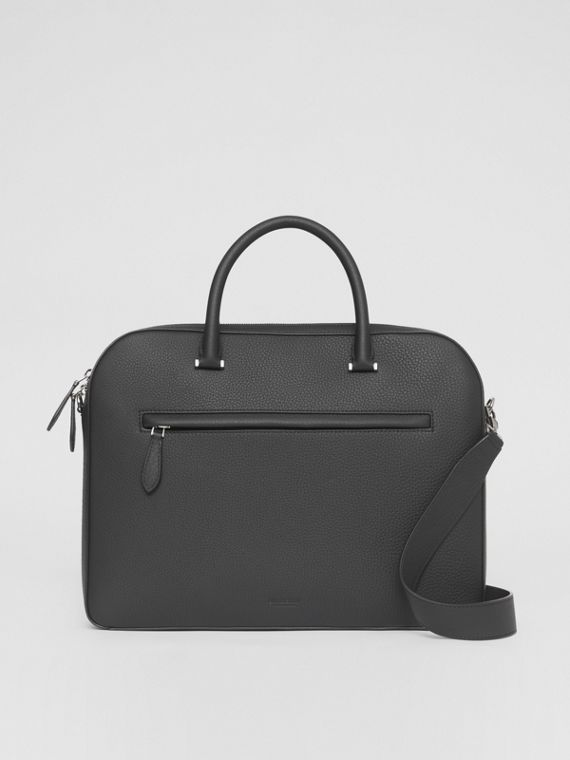 Leather Olympia Briefcase in Black