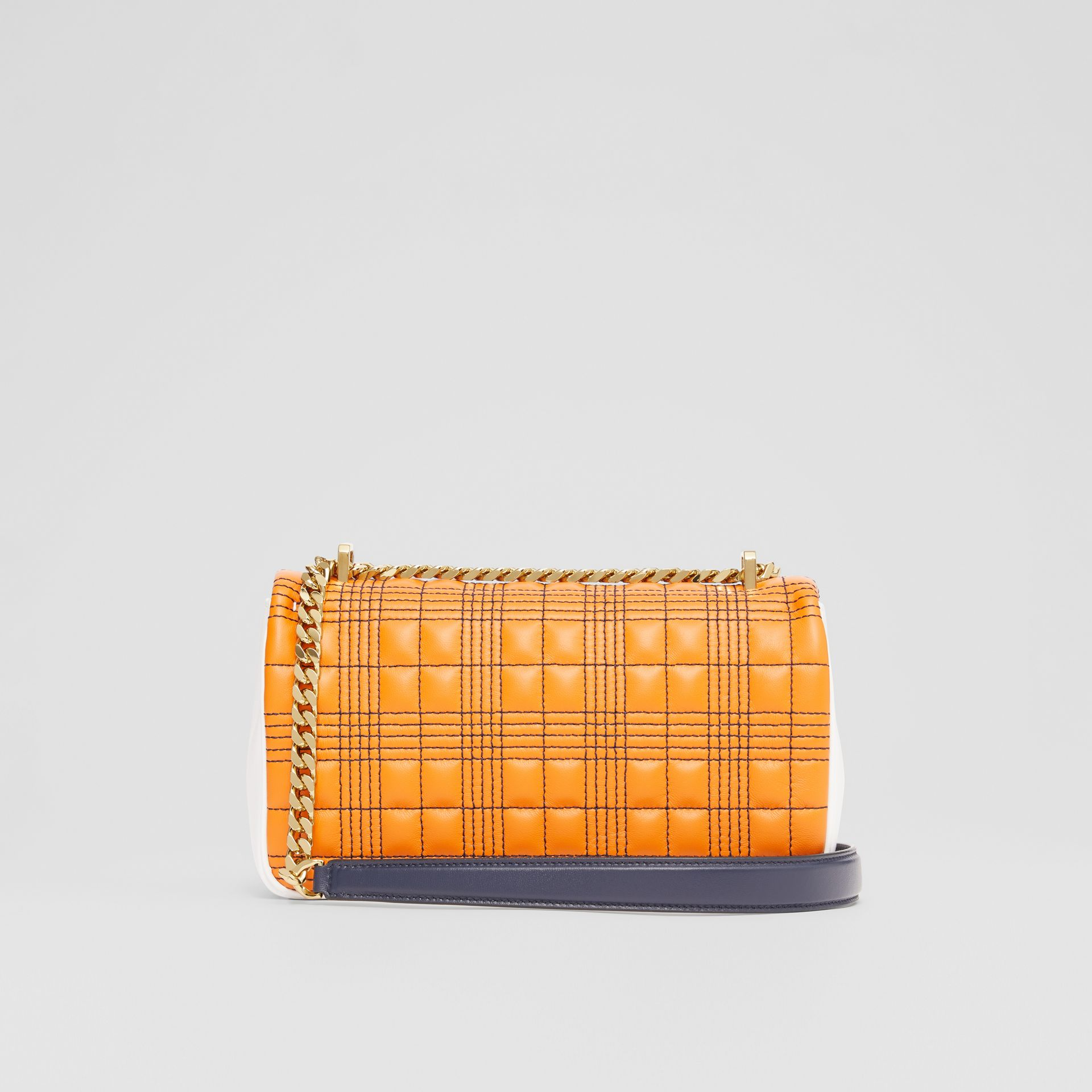 Small Quilted Tri-tone Lambskin Lola Bag in Orange/white - Women | Burberry - gallery image 7
