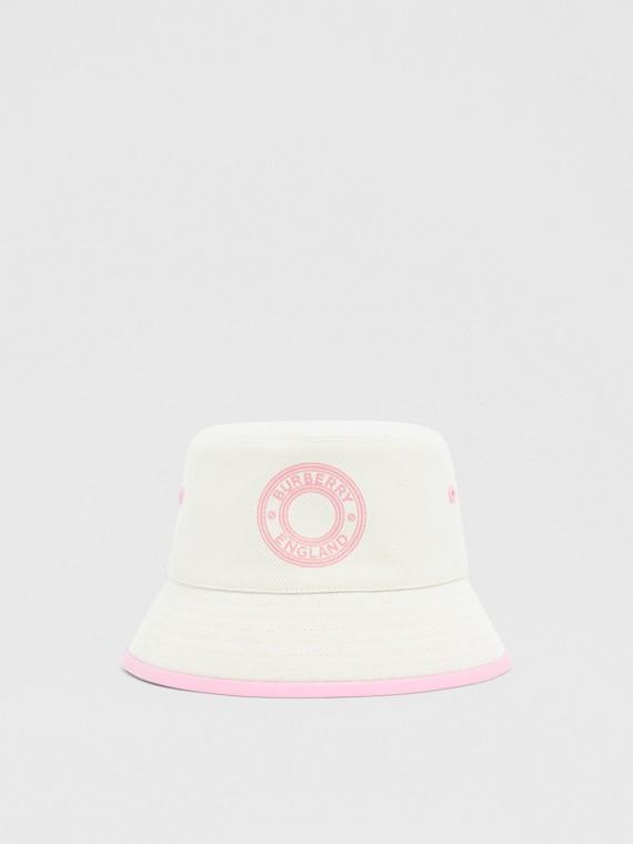 Logo Graphic Cotton Canvas Bucket Hat in Garnet
