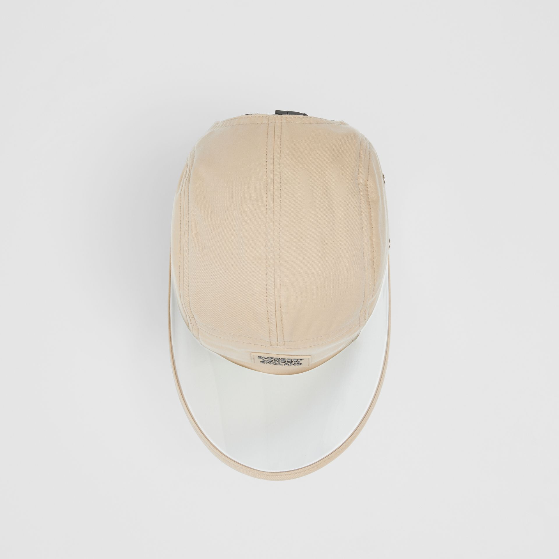 Transparent Detail Cotton Twill Bonnet Cap – Online Exclusive in Soft Fawn | Burberry - gallery image 3