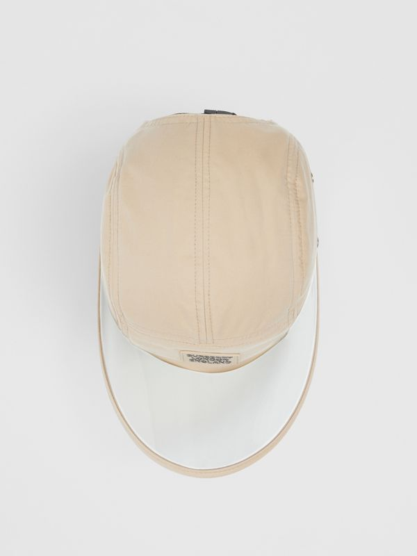 Transparent Detail Cotton Twill Bonnet Cap – Online Exclusive in Soft Fawn | Burberry Singapore - cell image 3