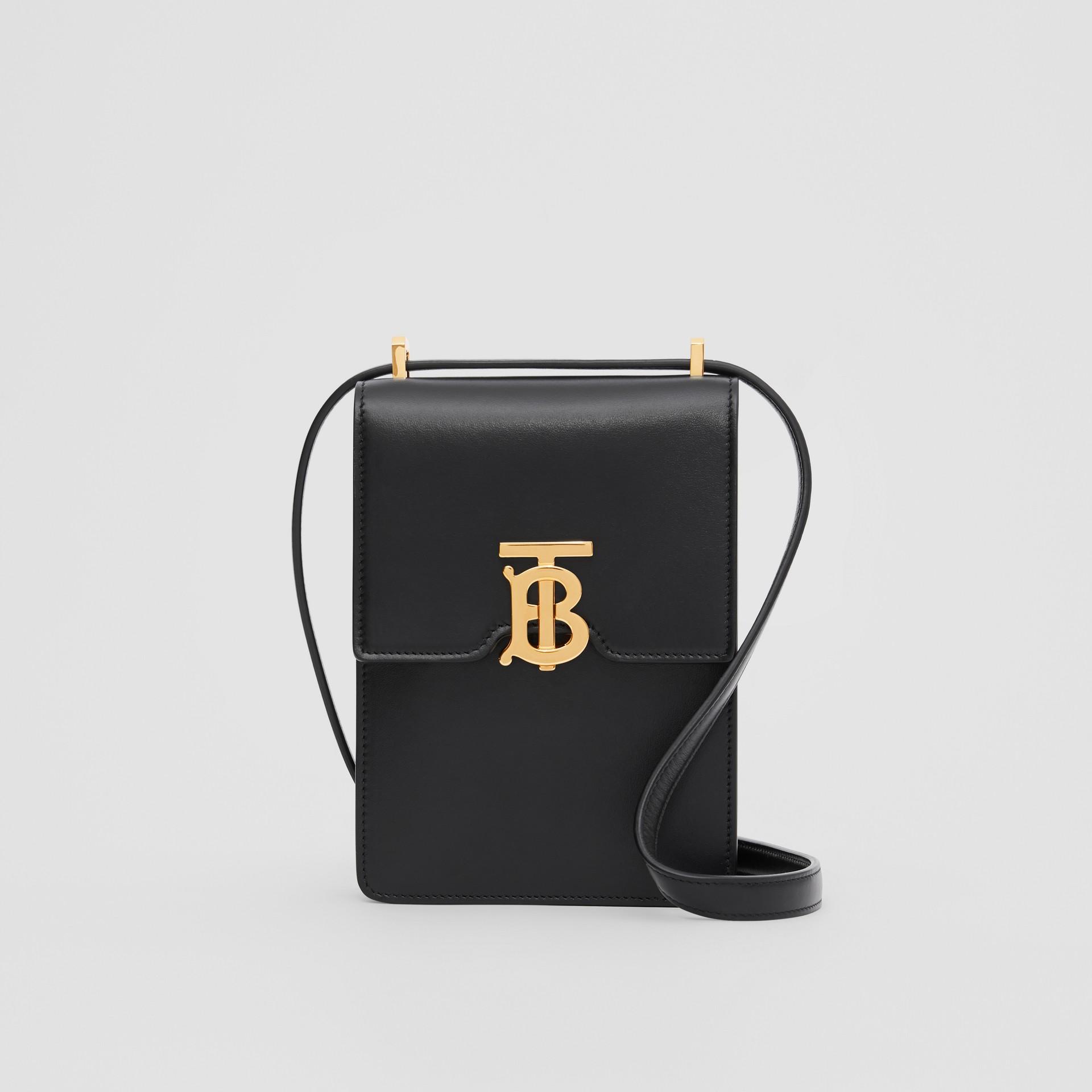 Leather Robin Bag in Black - Women | Burberry Australia - gallery image 0