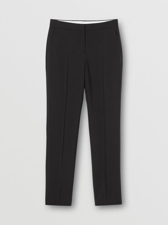Pantaloni sartoriali in mohair e lana (Nero)