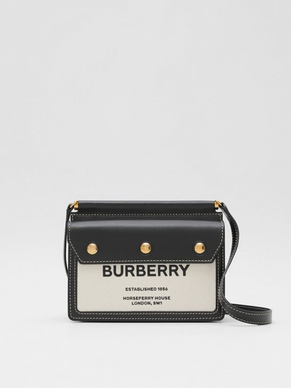 Mini Horseferry Print Title Bag with Pocket Detail
