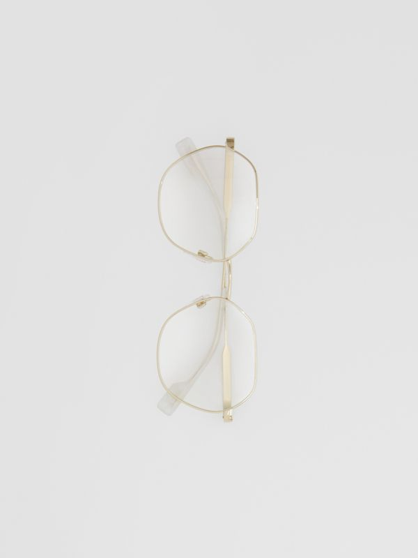 Geometric Optical Frames in Pearl - Women | Burberry - cell image 3