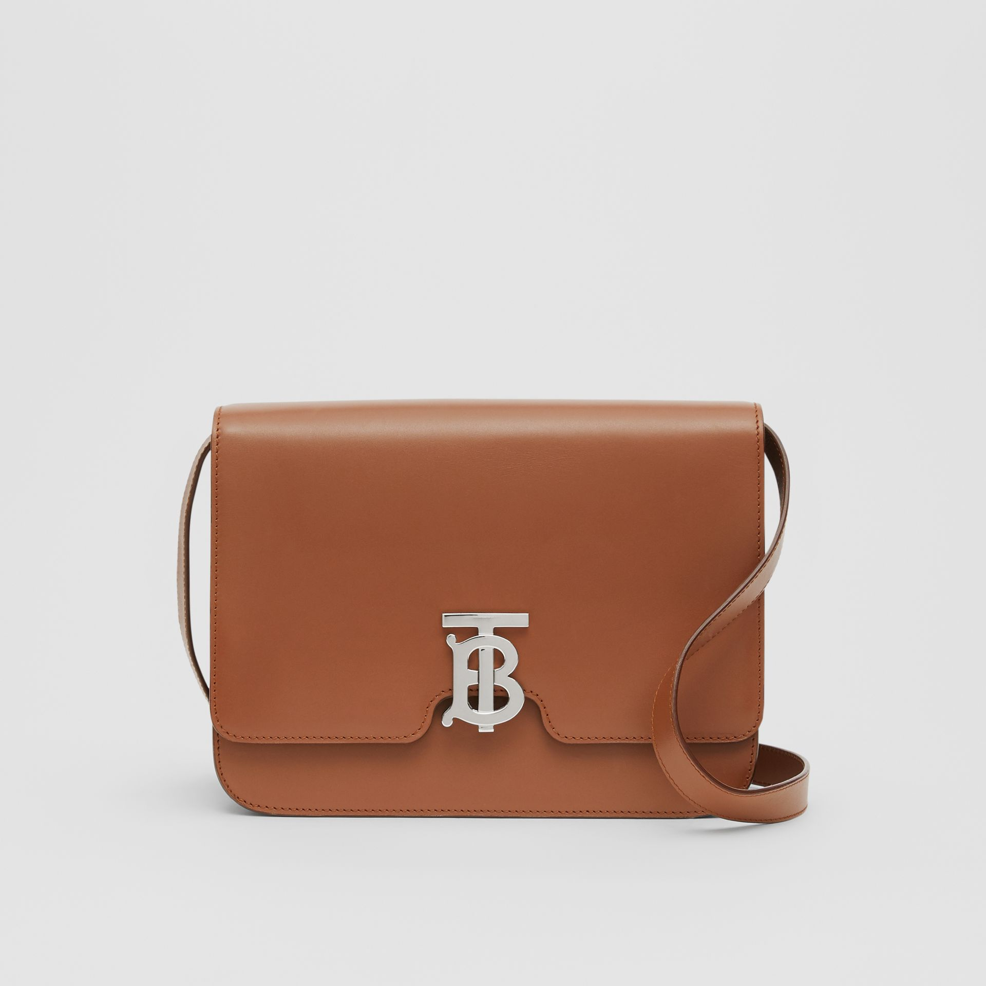 Medium Leather TB Bag in Malt Brown - Women | Burberry Australia - gallery image 0