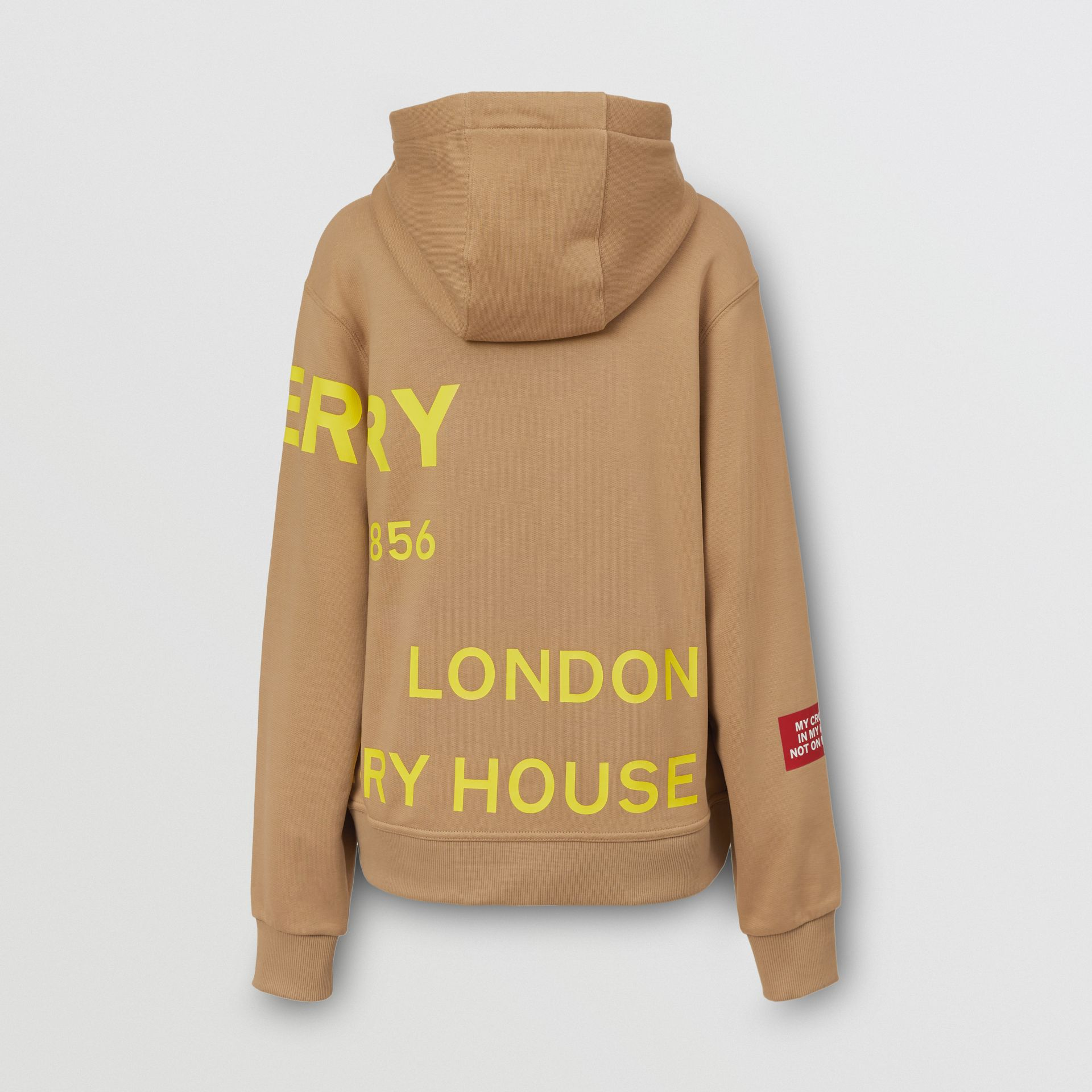 Horseferry Print Cotton Oversized Hoodie in Archive Beige | Burberry United Kingdom - gallery image 5