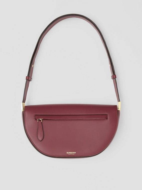 Small Leather Olympia Bag in Burgundy