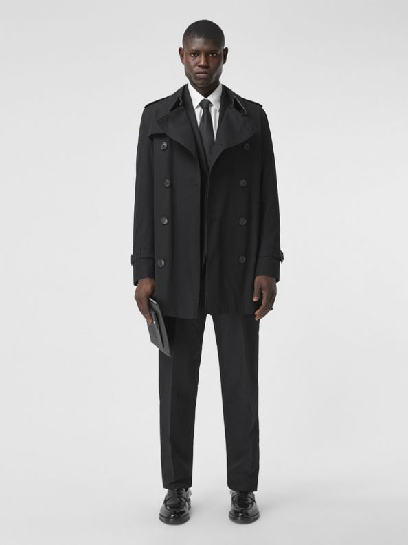 Trench coat Wimbledon curto (Preto)