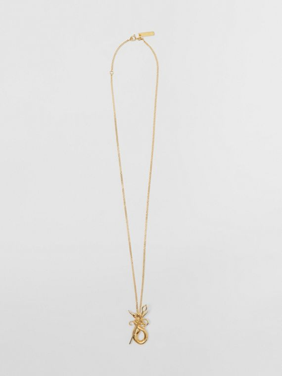 Gold-plated Mythical Alphabet Motif Necklace in Light