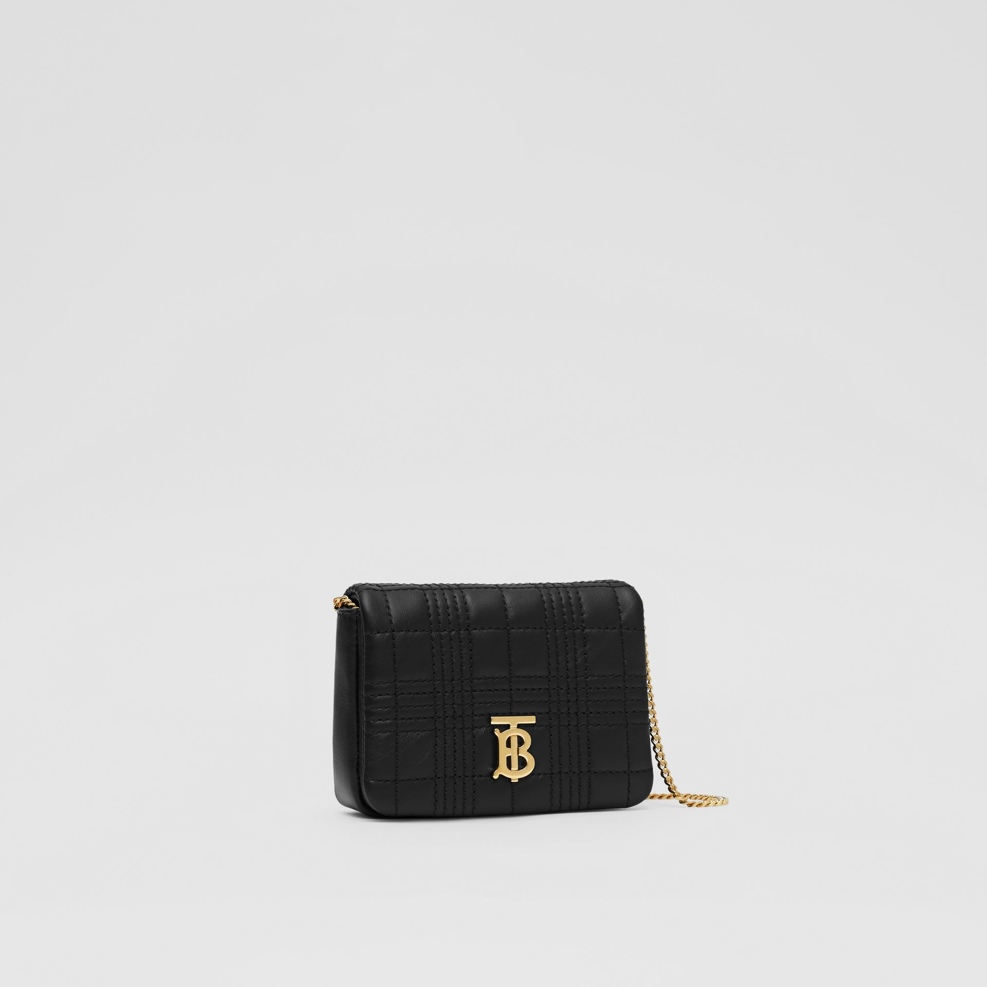 Micro Quilted Lambskin Lola Bag in Black - Women | Burberry - gallery image 7
