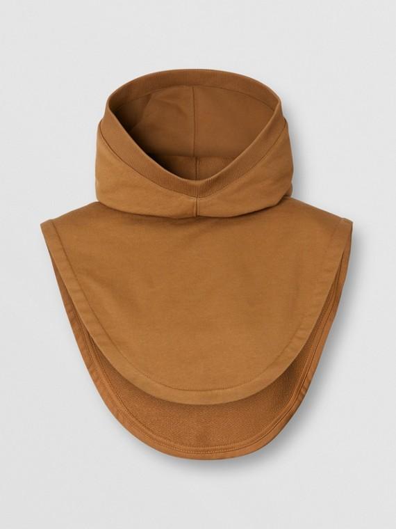 Logo Appliqué Cotton Hood in Fawn