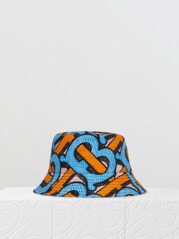 Sombrero de pesca en lona de algodón con monogramas (Azul Cobalto Intenso)
