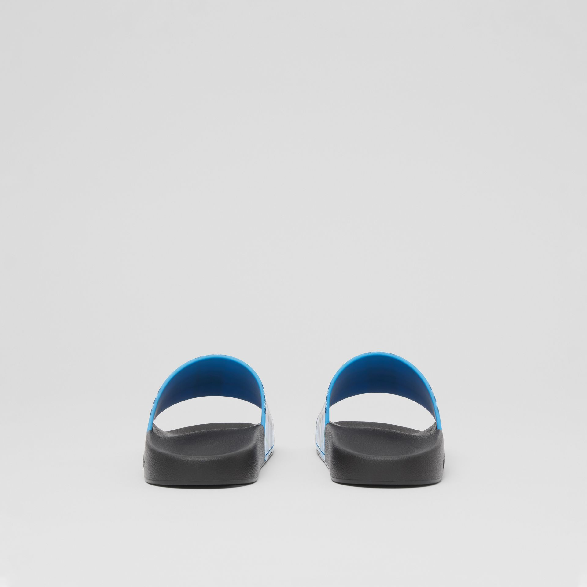 Check Print Slides in Blue Azure - Women | Burberry United Kingdom - gallery image 3