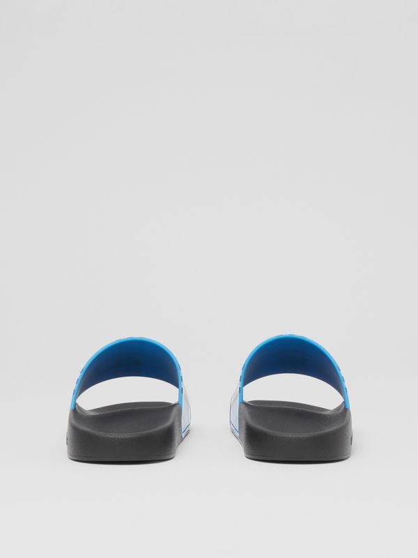 Check Print Slides in Blue Azure - Women | Burberry United Kingdom - cell image 3